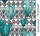 watercolor seamless pattern...   Shutterstock . vector #792225487