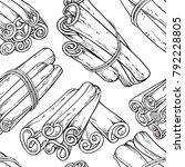 cinnamon seamless pattern | Shutterstock .eps vector #792228805