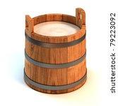 Milk Wooden Bucket 3d...