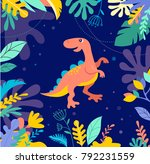 dinosaurs collection  different ... | Shutterstock .eps vector #792231559