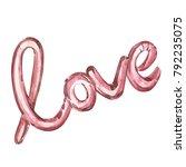 valentines day text balloon... | Shutterstock . vector #792235075