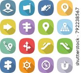 flat vector icon set   pointer... | Shutterstock .eps vector #792238567
