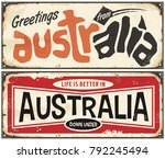 Greetings From Australia Retro...