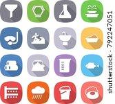 flat vector icon set   funnel... | Shutterstock .eps vector #792247051