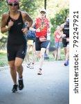 new york   jul 16 2017  athlete ... | Shutterstock . vector #792247921
