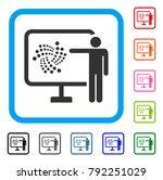 iota project presentation icon. ... | Shutterstock .eps vector #792251029