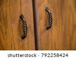 cupboard close up door knobs...   Shutterstock . vector #792258424