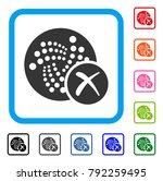 cancel iota icon. flat gray... | Shutterstock .eps vector #792259495