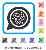 iota message cloud icon. flat...