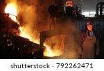 hard work in foundry  liquid... | Shutterstock . vector #792262471