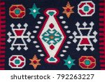 motives on turkish rugs | Shutterstock . vector #792263227