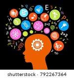 child head education.children... | Shutterstock .eps vector #792267364