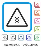 cardano danger icon. flat gray... | Shutterstock .eps vector #792268405