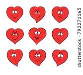 heart emotion feelings for... | Shutterstock .eps vector #792271165