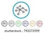 ripple network nodes rounded... | Shutterstock .eps vector #792272599