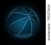 vector image of a basketball...   Shutterstock .eps vector #792272614