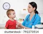 doctor holding inhaler mask for ...   Shutterstock . vector #792273514
