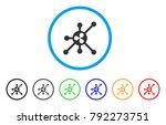 ripple full node rounded icon.... | Shutterstock .eps vector #792273751