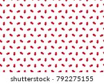 heart pattern. seamless vector... | Shutterstock .eps vector #792275155