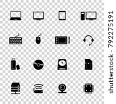 computer hardware icons. pc... | Shutterstock .eps vector #792275191