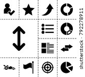 ui icons. set of 13 editable...