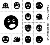 emotion icons. set of 13... | Shutterstock .eps vector #792278959