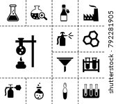 chemical icons. set of 13... | Shutterstock .eps vector #792281905