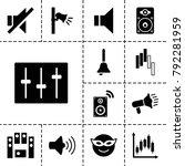 loud icons. set of 13 editable... | Shutterstock .eps vector #792281959