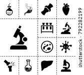 biology icons. set of 13... | Shutterstock .eps vector #792282199