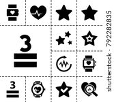 rate icons. set of 13 editable... | Shutterstock .eps vector #792282835