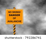 no skiing track closed... | Shutterstock .eps vector #792286741