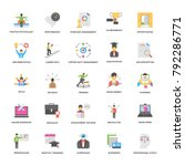 flat vector icons collection of ... | Shutterstock .eps vector #792286771