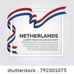 netherlands flag background   Shutterstock .eps vector #792301075