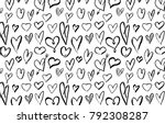 abstract background with hearts ...