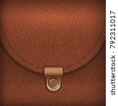 brown leather bag background | Shutterstock .eps vector #792311017