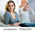 senior lady and young woman... | Shutterstock . vector #792311299