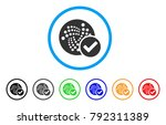 valid iota rounded icon. style... | Shutterstock .eps vector #792311389