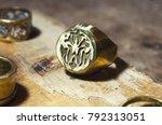 the work of jewelers. trial... | Shutterstock . vector #792313051