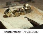 the work of jewelers. trial... | Shutterstock . vector #792313087