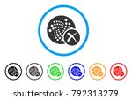 cancel iota rounded icon. style ... | Shutterstock .eps vector #792313279