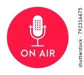 podcast radio icon illustration ... | Shutterstock .eps vector #792316675