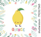 cute cartoon quince... | Shutterstock .eps vector #792317365