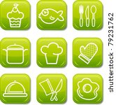 food icon buttons glossy set | Shutterstock .eps vector #79231762
