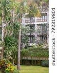 a well groomed exotic garden... | Shutterstock . vector #792319801