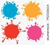 splats splashes and blobs ... | Shutterstock .eps vector #792320614