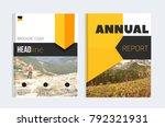 business brochure cover design... | Shutterstock .eps vector #792321931