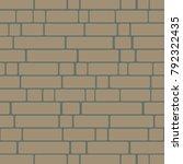seamless texture of a brick... | Shutterstock .eps vector #792322435