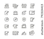 copywriting related icons  thin ... | Shutterstock .eps vector #792324415