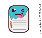 full color funny and cute note... | Shutterstock .eps vector #792326044