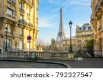 view of the eiffel tower from a ... | Shutterstock . vector #792327547